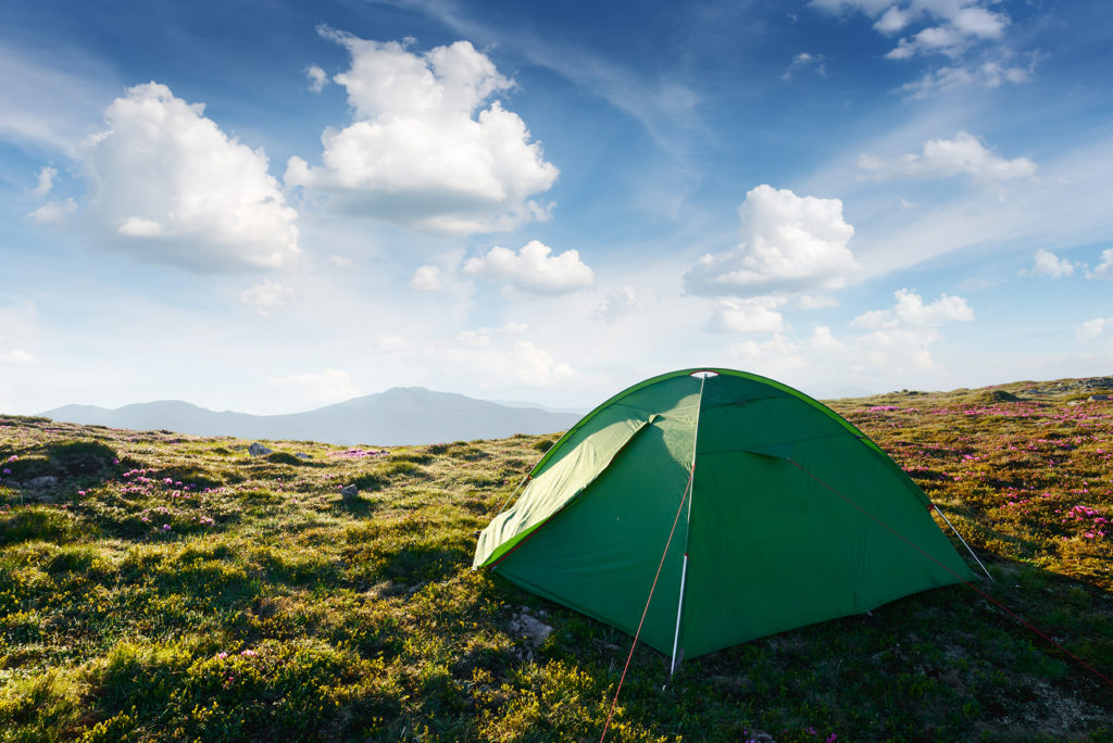 picturesque-scene-with-green-tent-and-blue-sky-376PN25 web